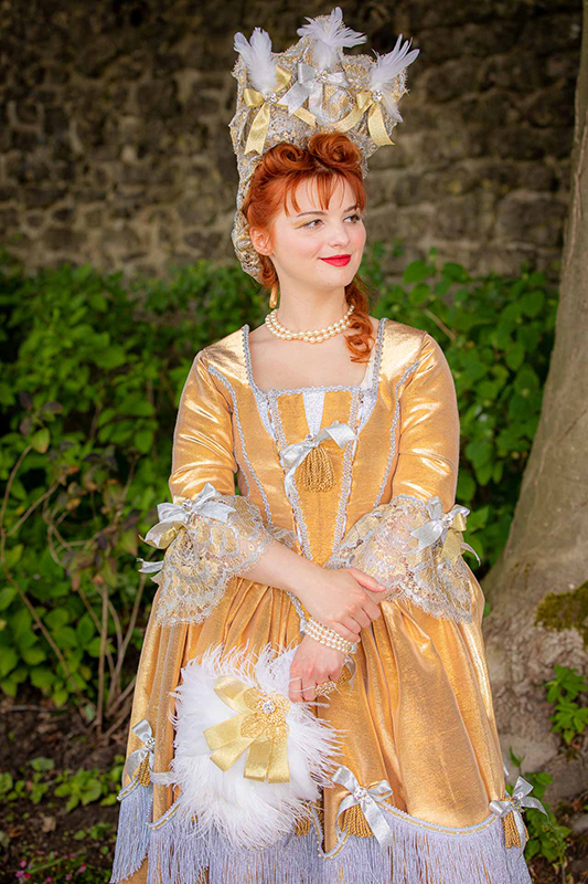 animation costume duchesse de fontanges shooting photo photocall art de vivre a la française made in france