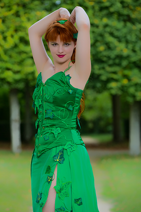 cosplay luxe made in france poison ivy dc comics feuilles