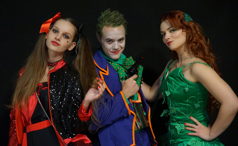 gotham city cosplays cosplay harley quinn joker poison ivy il était une fois made in france photo photographes animation photographique prestation costumée