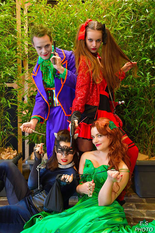 gotham city super vilains cosplay cosplays joker harley quinn poison ivy catwoman dc comics il était une fois made in france