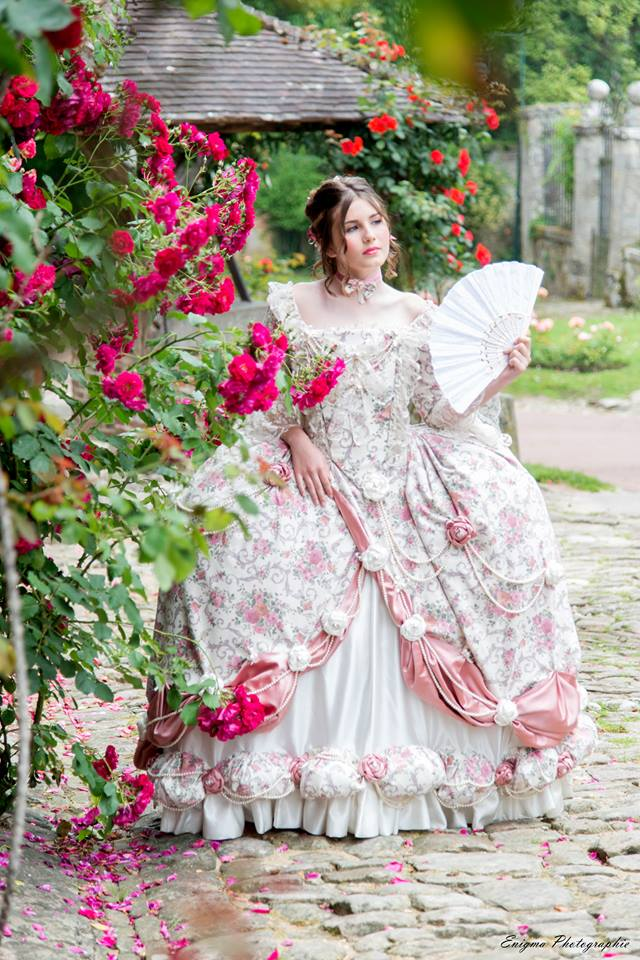 madame elisabeth robe baroque marie antoinette shooting photo costume xviii eme siecle il etait une fois made in france