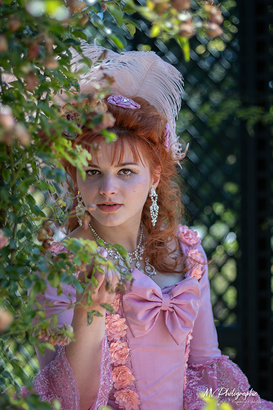 shooting photo portrait marie antoinette animation costumee photographique il était une fois made in france