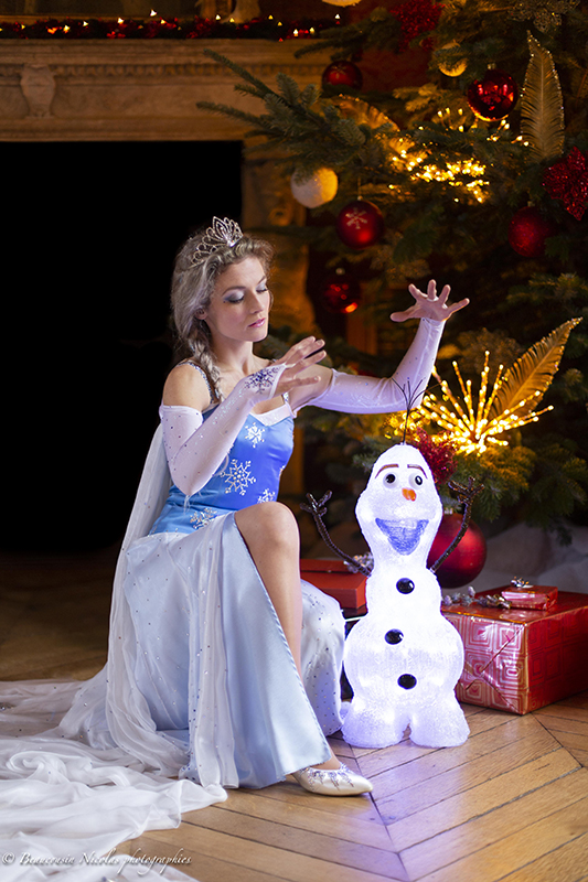 animation saynete reine des neiges elsa olaf noel feerique conte de fee disney