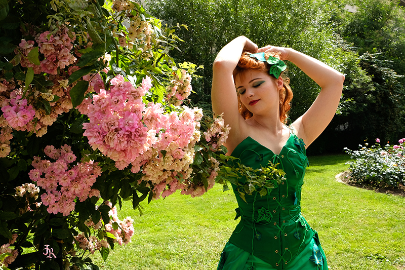 meet up photo portrait costume cosplay poison ivy dc comics comic book fleurs plantes shooting il était une fois made in france événement