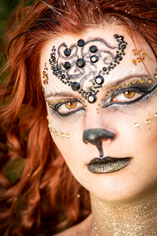 shooting make up maquillage artistique lion portrait photocall made in france